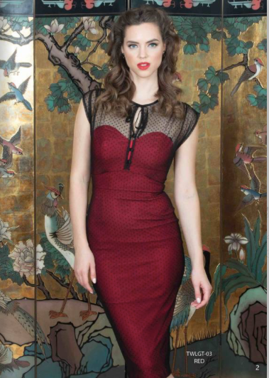 Stop Staring TWILIGHT RED Dress, Red and Black Lace Dress, TWLGT-03 RED, FALL WINTER 2019