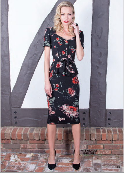 Stop Staring, VITAL Dress, Floral Dress, VITAL-03 BLKFL, FALL WINTER 2019