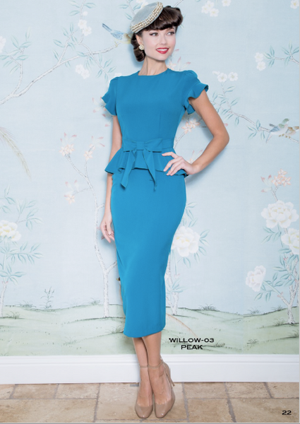 Stop Staring, WILLOW Dress, Peacock Blue Dress, WILLOW-03 PEAK, SPRING SUMMER 2019