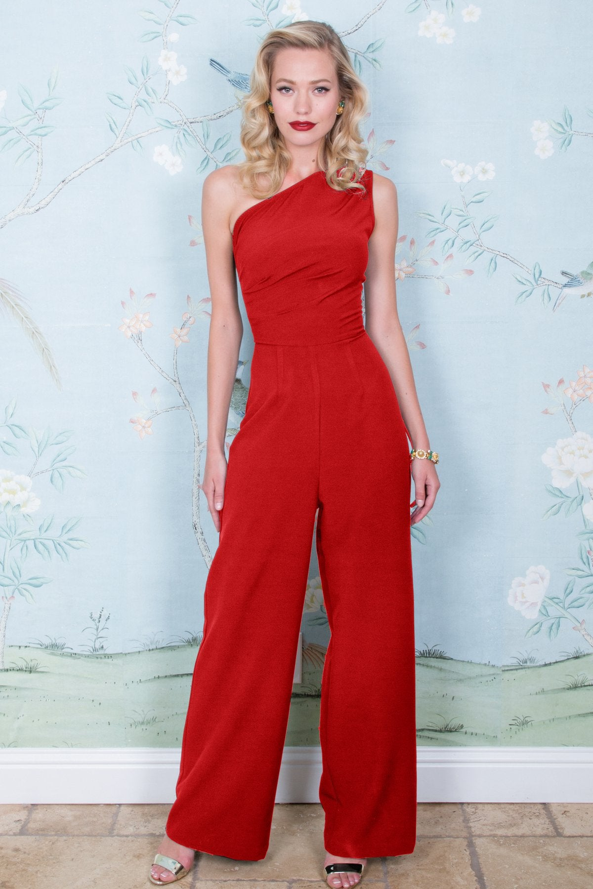 Stop Staring, AVA JUMPSUIT, Red Jumpsuit, Romper, AVPNT-13 RED, SPRING SUMMER 2019
