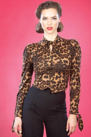 Stop Staring, FORTUNA Leopard Blouse, FRTNA -05 LEOPR, FALL WINTER 2019