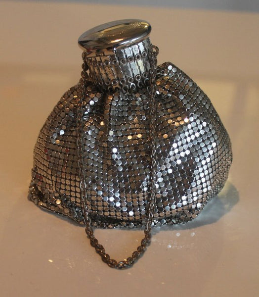 Vintage Original Whiting and Davis Silver Mesh Purse