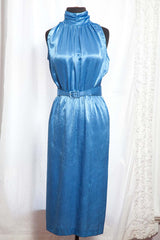 Vintage Jody 1980's Blue Batwing Jacket, Pencil Dress & Belt - size 6