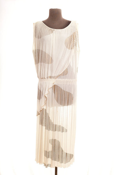 Vintage Cream and Gold Art Deco/Flapper Dress - Plus Size