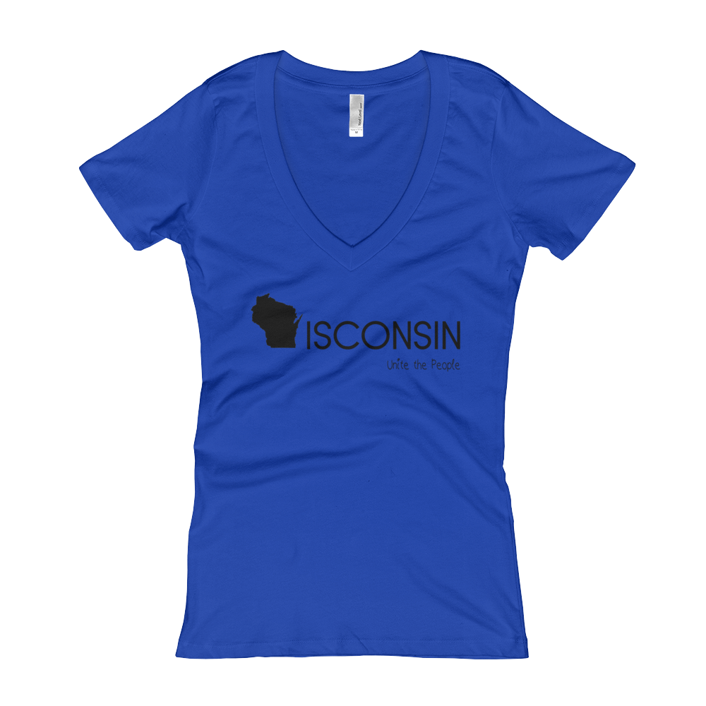 blue t-shirt, womens t-shirt, v-neck t-shirt
