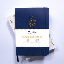 Load image into Gallery viewer, Reach for the Stars - A5 Dot Grid 160 GSM, 192 pages Notebook by Alon Notebooks (Blue)