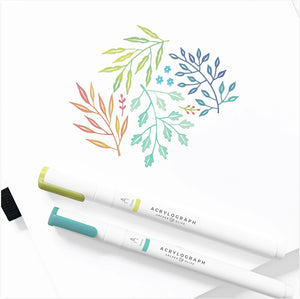 Archer & Olive Acrylograph Pens Spring Vernal Collection - 0.7 mm tip