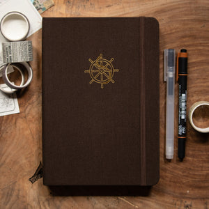 Helm (Smooth Sailing Series) - A5 Dot Grid 160 GSM, 192 pages Notebook by Alon Notebooks (Brown)