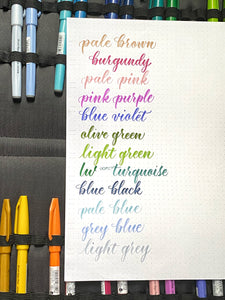 Pentel Touch Fude Pen New Colors - per piece