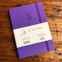 Load image into Gallery viewer, 160 gsm Buke Notebook Bullet Journal - Purple Fox