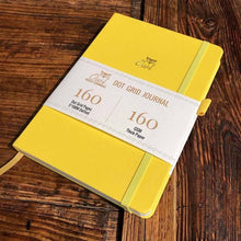 Load image into Gallery viewer, 160 gsm Buke Notebook Bullet Journal - Yellow Owl