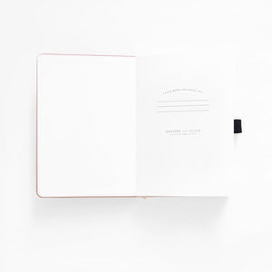 160 pages Rose Gold Dot Grid Notebook by Archer & Olive