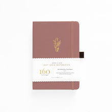 Load image into Gallery viewer, 160 pages Floral Sunset Dot Grid Notebook by Archer & Olive