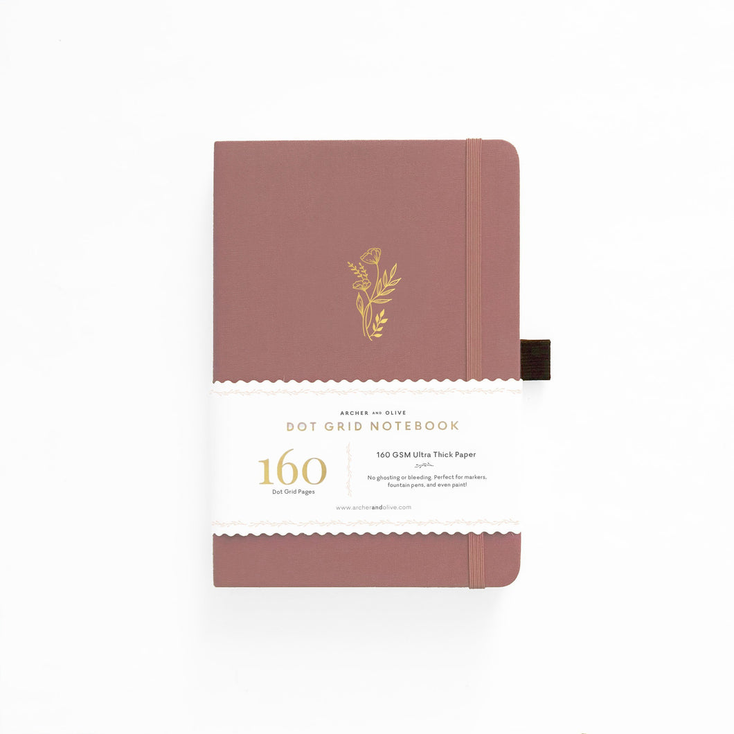 160 pages Floral Sunset Dot Grid Notebook by Archer & Olive