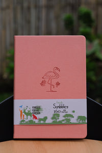 160 gsm Buke Notebook Bullet Journal - Pink Flamingo