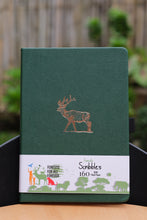Load image into Gallery viewer, 160 GSM Bullet Journal by Buke Notebooks - Dark Green Deer