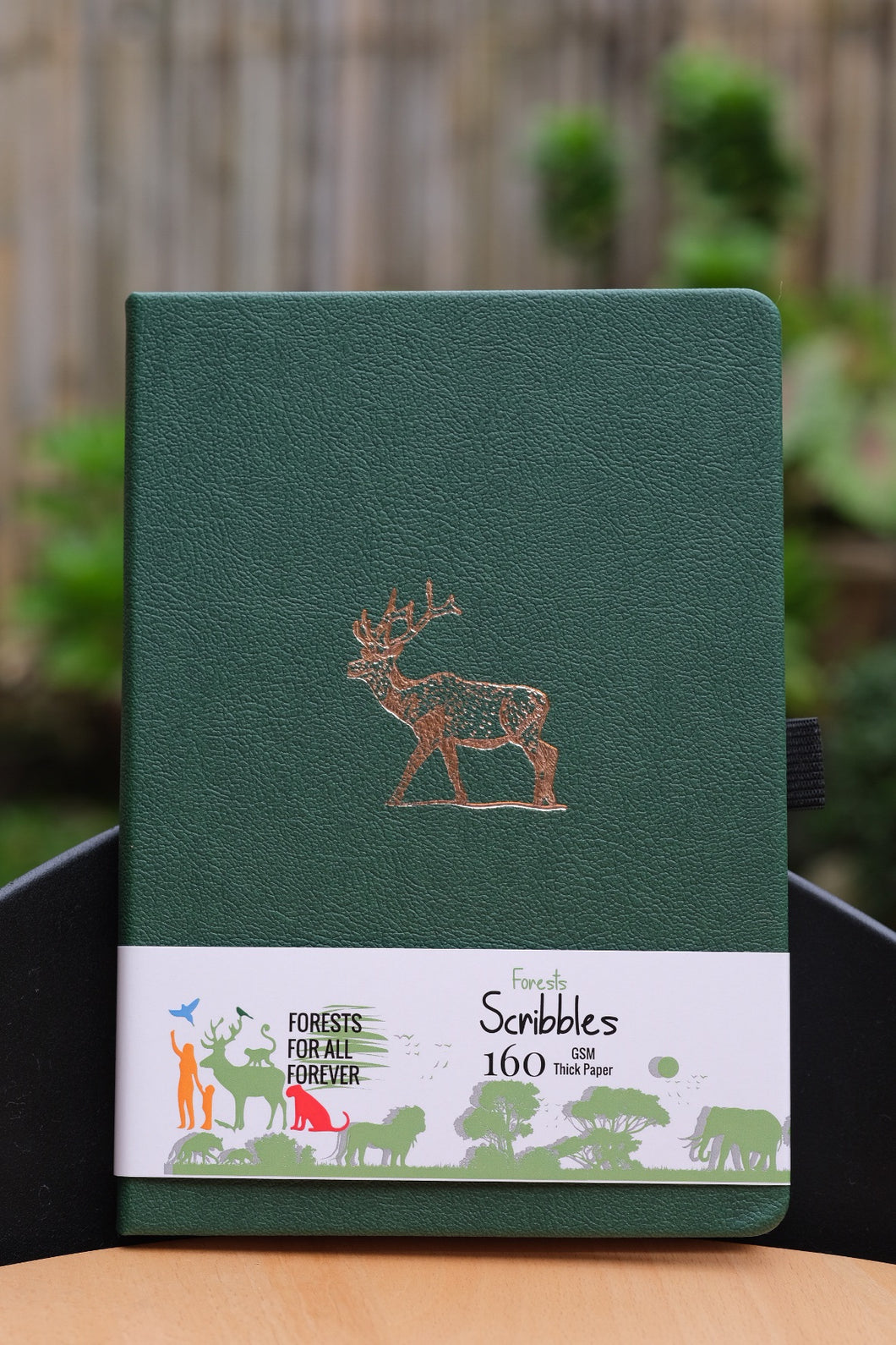 160 GSM Bullet Journal by Buke Notebooks - Dark Green Deer