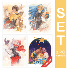 Load image into Gallery viewer, FE3H Small Print Bundle Claude/Dimitri/Edelgard