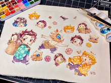 Load image into Gallery viewer, Demon Slayer Stickers (16pcs)