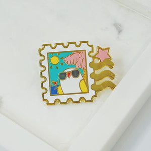 Mako's Delivery Service Pins