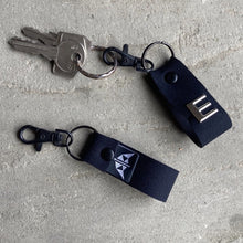 Load image into Gallery viewer, Neoprene keyring in black with optional personalisation