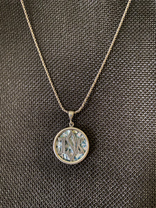 Silver Roman Glass Necklace SRGN0032