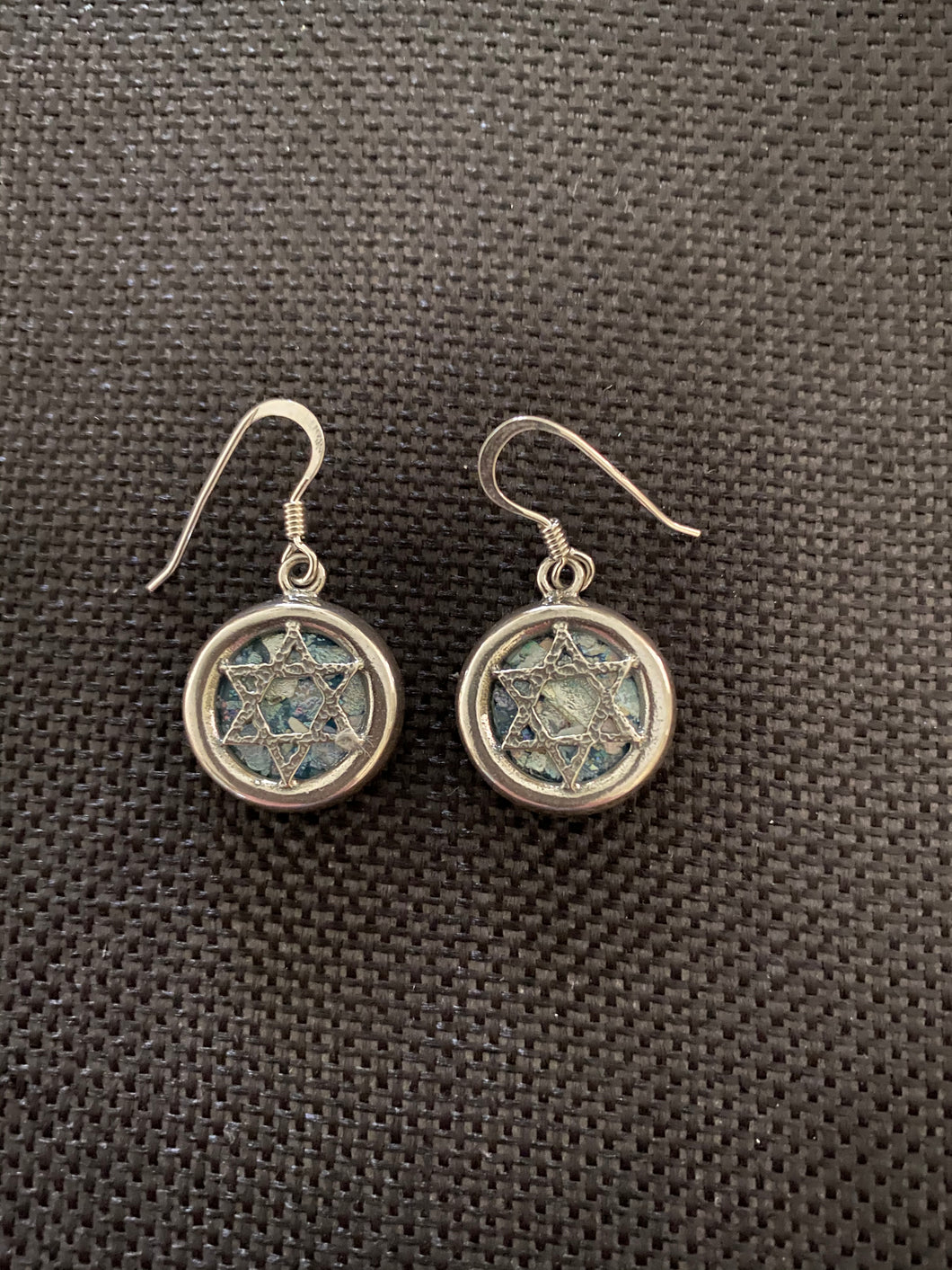 Silver Roman Glass Earrings SRGE0021
