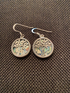 Silver Roman Glass Earrings SRGE0003