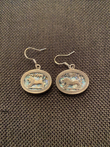 Silver Roman Glass Earrings SRGE0004