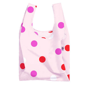 Pink Polka Face Reusable Shopping Tote