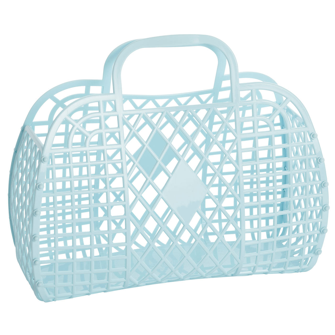 Retro Jelly Basket in Blue