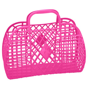 Retro Jelly Basket in Hot Pink