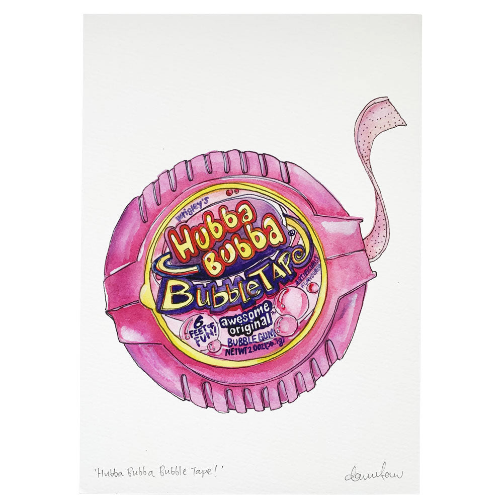 Hubba Bubba Signed Art Print