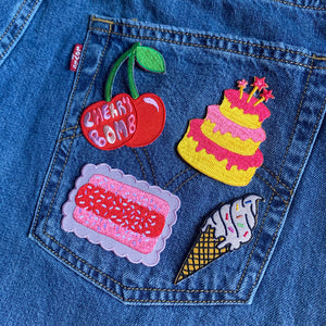Birthday Cake Iron On Patch