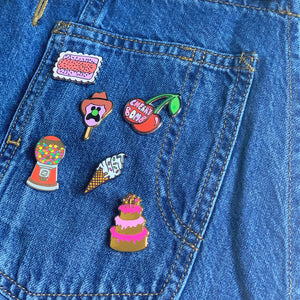 Birthday Cake Enamel Pin