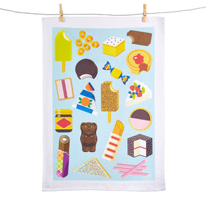 Aussie Snacks Tea Towel