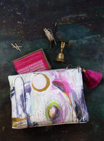 Artsy Brushstrokes Large Tassel Pouch-I Am Lilou Bloom