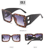 Burnt B Don't Get It Twisted Oversized Square Sunglasses
