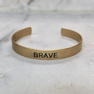 Copper Cuff Bracelet (Brave) (Kind) (Badass) - I Am Lilou Bloom