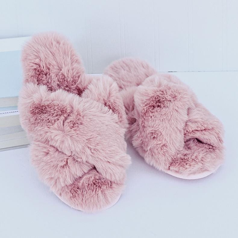 Slide Slipper Fuzzy Pink - I Am Lilou Bloom