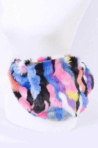 Fuzzy Colorful Faux Fur Fanny Pack-I Am Lilou Bloom