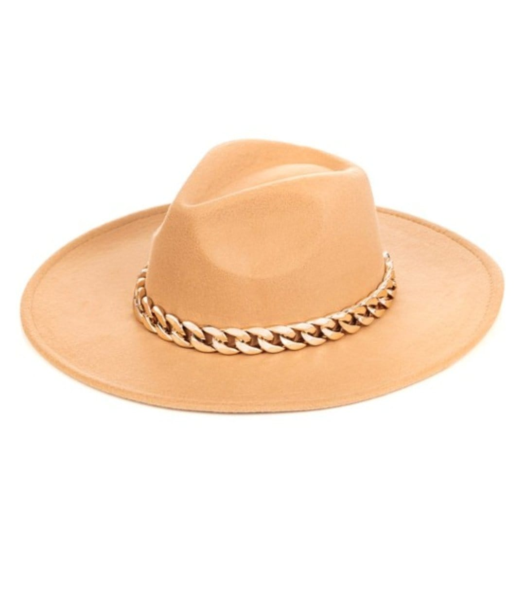 Luxe Chunky Chain Cowgirl Hat (Tania) - I Am Lilou Bloom