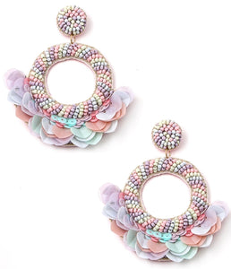 Hoop Tassel Beaded Earrings - I Am Lilou Bloom