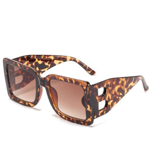 Burnt B Don't Get It Twisted Oversized Square Sunglasses - I Am Lilou Bloom