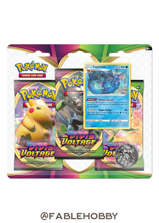 Pokémon Vivid Voltage Vaporeon Blister Pack