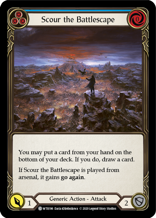 Scour the Battlescape (Blue)