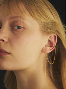 Ear Cuff With Chain Earring