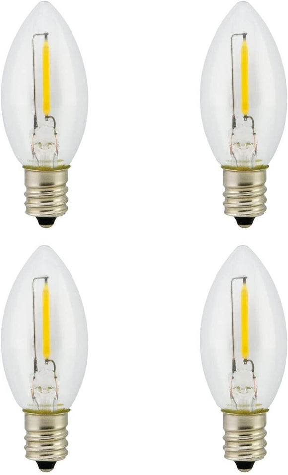 Promotion! Landlite Night Light Bulb LED C7 1W, Bu