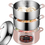Bear Electric Food Steamer,Stainless Steel Digital
