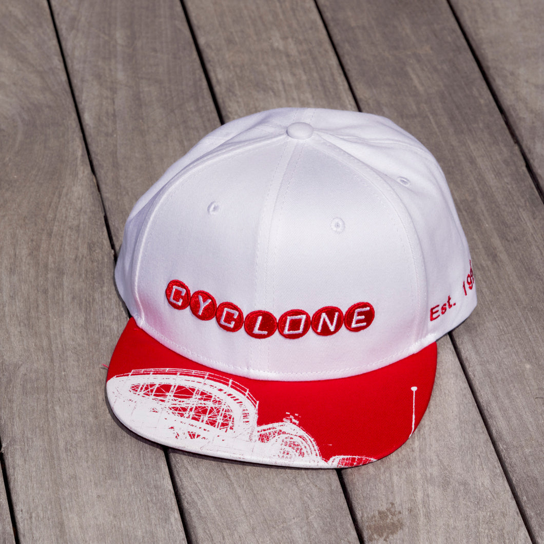 Cyclone White Mesh Hat